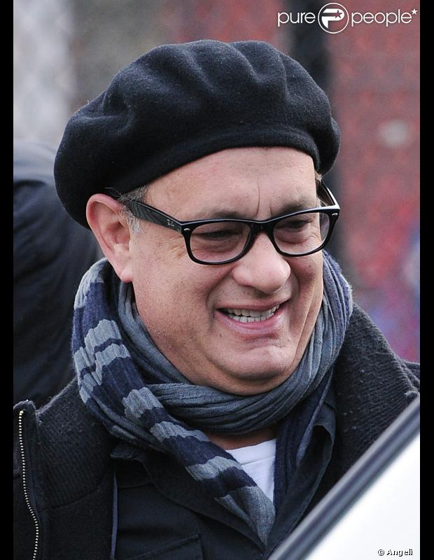 Tom Hanks à New-York le 27 mars 2011 durant le tournage de  Extremely loud and incredibly close