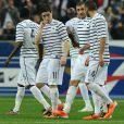 """Le 29 mars 2011, à l'occasion de la réception de la Croatie en amical au Stade de France, l'équipe de France étrennait son maillot """"extérieur"""", la fameuse marinière."""