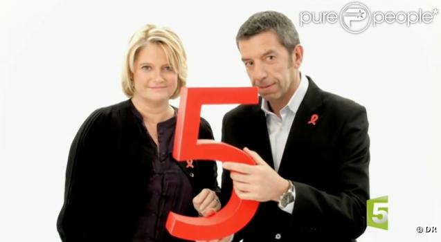 marina carr re d 39 encausse et michel cymes dans le spot pour le sidaction 2011. Black Bedroom Furniture Sets. Home Design Ideas