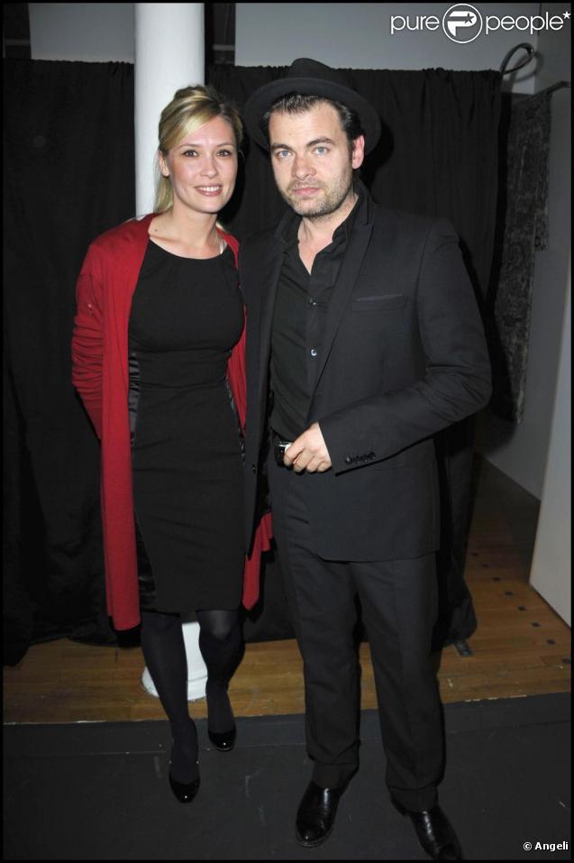 Clovis Cornillac et Lilou Fogli à la remise des prix Patrick-Dewaere et Romy-Schneider, au Bon Marché, le 4 avril 2011, à Paris.