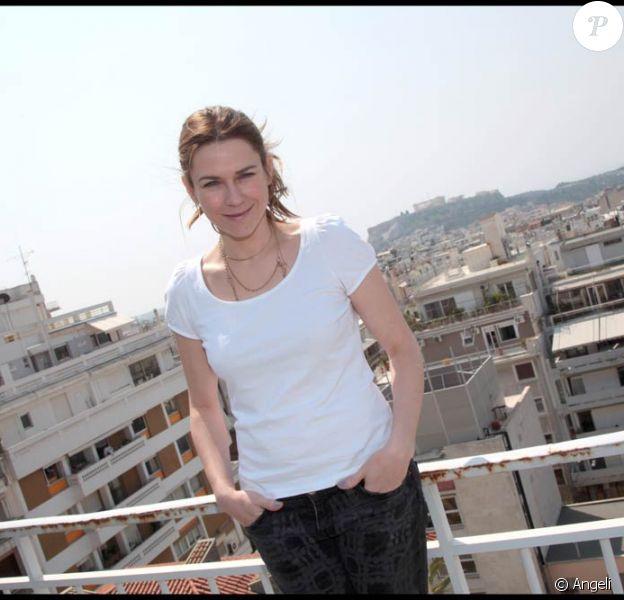 Marie-Josée Croze à l'occasion du Festival du Film Francophone en Grèce pour la présentation de Un balson sur la mer, à Athènes, le 6 avril 2011.