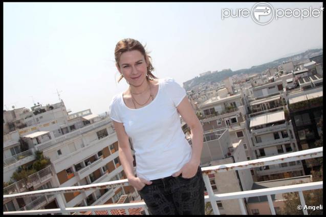 Marie-Josée Croze à l'occasion du Festival du Film Francophone en Grèce pour la présentation de  Un balson sur la mer , à Athènes, le 6 avril 2011.
