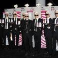 """""""Karl Lagerfeld lors de la soirée Coca Cola Light pour célébrer le lancement de sa bouteille. Le 7 avril 2011"""""""