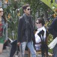 Halle Berry et Olivier Martinez sont allés dîner à Los Angeles en amoureux. Avril 2011