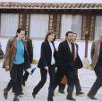 Clara Rojas (t-shirt bleu) et Ingrid Betancourt en campagne en 2001