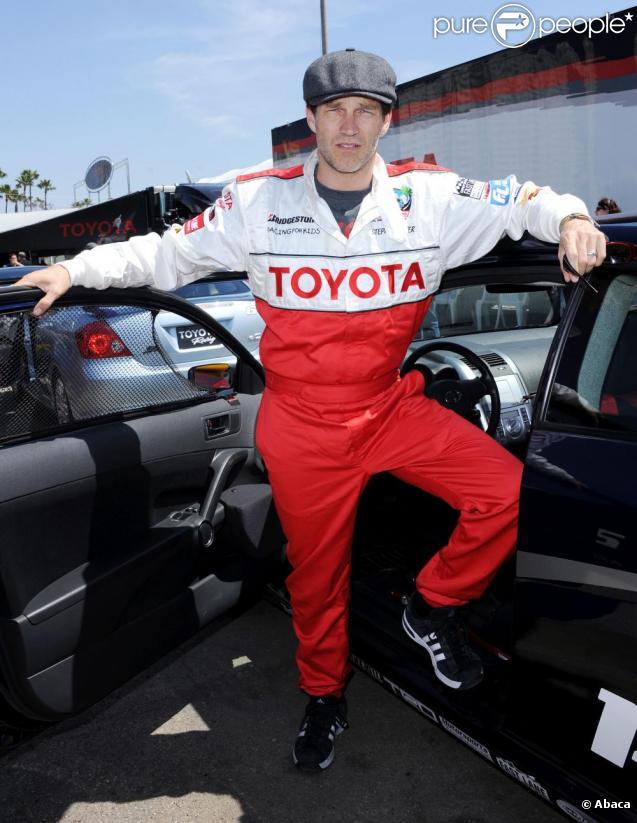 Stephen Moyer, le 5 avril 2011, durant la conférence de presse du Toyota Pro/Celebrity Race.