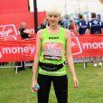 Agyness Deyn, a participé au marathon de Londres pour l'association Oxfam, le 17 avril 2011.