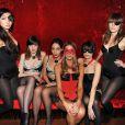 Nubia, la fille de Lio, et quelques amies sexy lors de la soirée Vitamin Water aux Chandelles pour le lancement de son nouveau parfum XXX-3 baies le mardi 19 avril 2011
