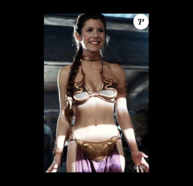 Princesse Leïa (Carrie Fischer) et le mythe du bikini doré. C'est dans Star Wars : L'Empire contre-attaque, et ça ne prend pas une ride, trente ans plus tard !
