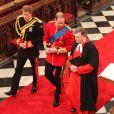 Le Prince William et son frère et témoin le Prince Harry arrivent à Westminster Abbey, le 29 avril 2011