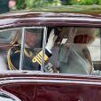 Le Prince Charles et Camilla Parker Bowles lors de leur arrivée à l'Abbaye de Westminster à l'occasion du mariage de Kate Middleton et du Prince William, le 29 avril 2011