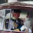 Le Prince Charles lors de son arrivée à l'Abbaye de Westminster à l'occasion du mariage de Kate Middleton et de son fils le Prince William, le 29 avril 2011