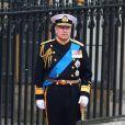 Le prince Andrew devant l'Abbaye de Westminster à l'occasion du mariage de Kate Middleton et de son neveu le Prince William, le 29 avril 2011
