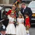 arrivant à l'Abbaye de Westminster pour assister au mariage de Kate Middleton avec le Prince William, le 29 avril 2011