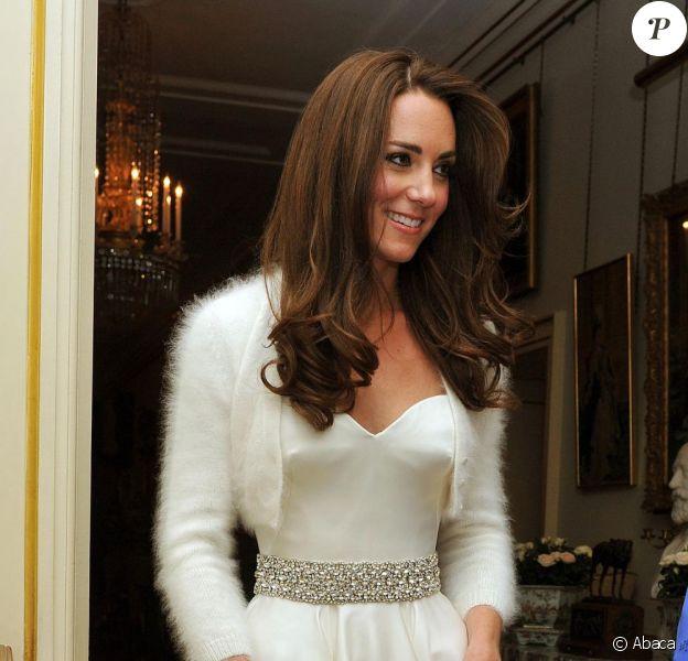 Kate Middleton était radieuse le soir de son  mariage avec le prince William. Elle portait une robe de Sarah Burton. Londres, 29 avril 2011