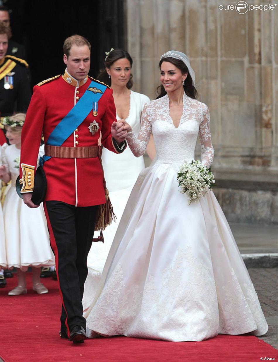 Kate Middleton Arborait Une Robe De Mariée Signée Sarah