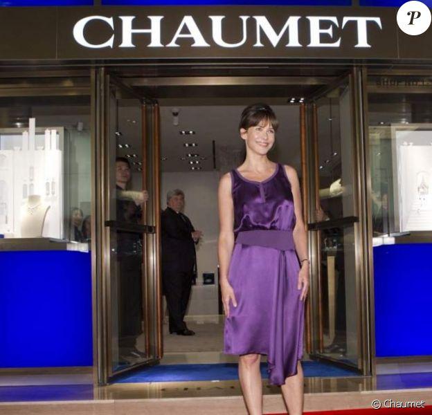 Sophie Marceau radieuse lors de la soirée Chaumet à Hong Kong le 28 avril 2011