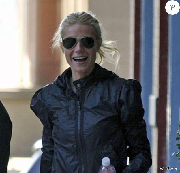 Gwyneth Paltrow se rend à la salle de sport. Avril 2011