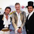 Frédéric Taddeï, Dan Marie Royer et Ariel Wizman, lors du Bal des Princesses, qui s'est tenu à Paris le 30 avril 2011.