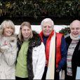 Christian, Mirja, Halifax, Gunter et Rolf Sachs à Gstaad en décembre 2004
