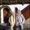 Gunter Sachs et sa femme Mirja à Gstaad en décembre 2006