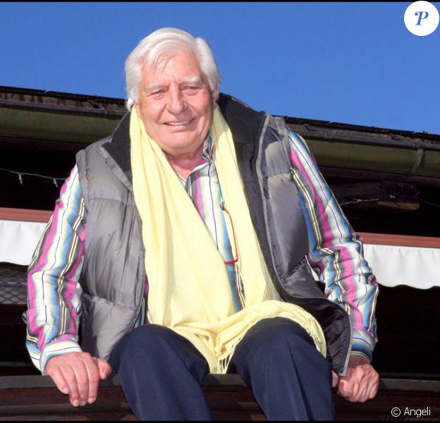 Gunter Sachs le 26 décembre 2006 à Gstaad