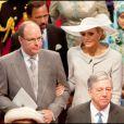 Le prince Albert et sa fiancée Charlene Wittstock au mariage de Kate et Will, le 29 avril 2011.