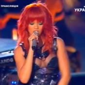 Rihanna : Un show endiablé pour le foot ukrainien et devant Milla Jovovich !