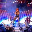 Rihanna chante pour les 75 ans du Shakhtar Donetsk en Ukraine le 14 mai 2011