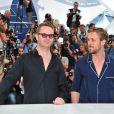Ryan Gosling et le réalisateur Nicolas Winding Refn lors du photocall du film Drive au festival de Cannes le 20 mai 2011