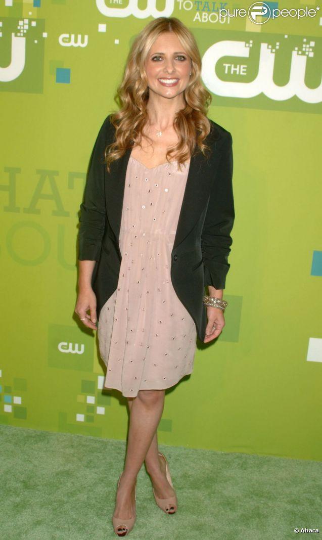 Sarah Michelle Gellar assiste à la conférence de presse de la chaîne CW, au Jazz Lincoln Center de New York, jeudi 19 mai.