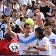 """Et Michaël Llodra """"pump it up"""" ! Samedi 21 mai 2011, chaude ambiance à la Porte d'Auteuil, pour l'ouverture des Internationaux de France de Roland-Garros !"""