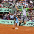 Jo-Wilfried Tsonga a donné tout ce qu'il avait !   Samedi 21 mai 2011, chaude ambiance à la Porte d'Auteuil, pour l'ouverture des Internationaux de France de Roland-Garros !