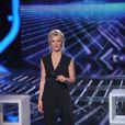 Sandrine Corman sur le plateau du prime du 24 mai 2011 de X Factor