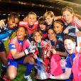 Les footballeuses de l'équipe féminine de l'Olympique Lyonnais ont triomphé lors de la finale de la Ligue des Champions, jeudi 26 mai 2011, face à l'équipe de Potsdam.