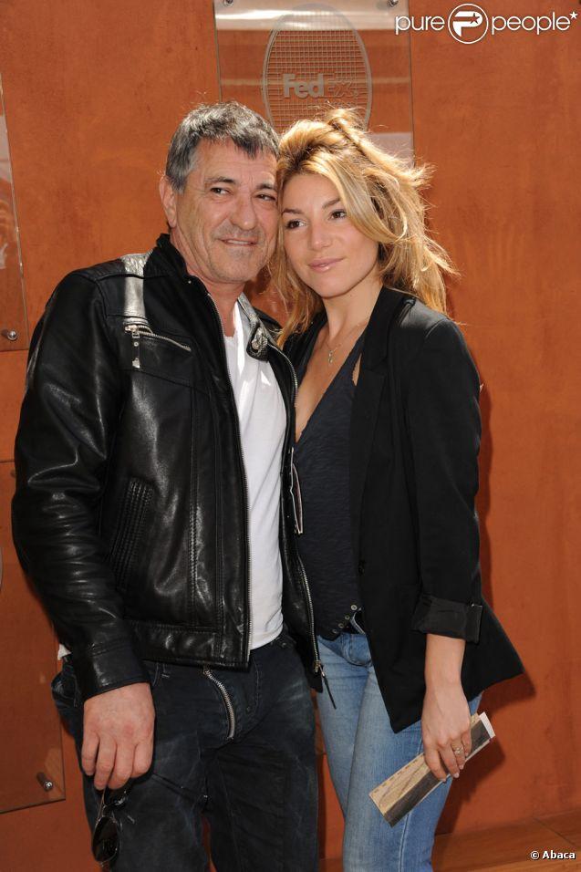 Jean-Marie Bigard et sa femme Lola Marois à Roland-Garros le 29 mai 2011 : un duo qui déborde d'amour !