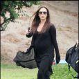 Victoria Beckham va chercher son fils Cruz à son entraînement de foot, à Los Angeles, le 28/05/2011