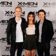 Michael Fassbender, Zoe Kravitz et James McAvoy lors de la promotion de X-Men First Class