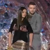 MTV Movie Awards : Mila Kunis et Justin Timberlake se pelotent sur scène !