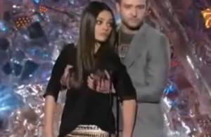 MTV Movie Awards : Mila Kunis et Justin Timberlake se pelotent sur scène !
