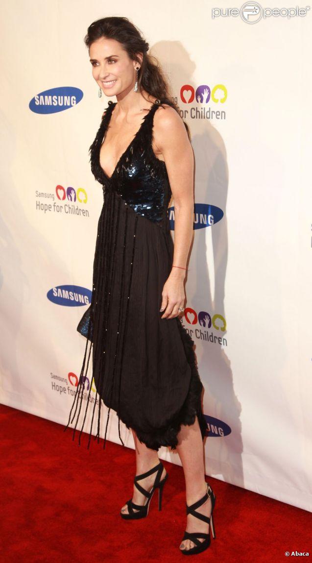 Demi Moore à l'occasion du Samsung Hope for Children Gala, au Cipriani de New York, le 7 juin 2011.