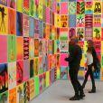 Christian Audigier et sa compagne visitent l'exposition  Art in the streets  au MOCA, à Los Angeles, mai 2011.