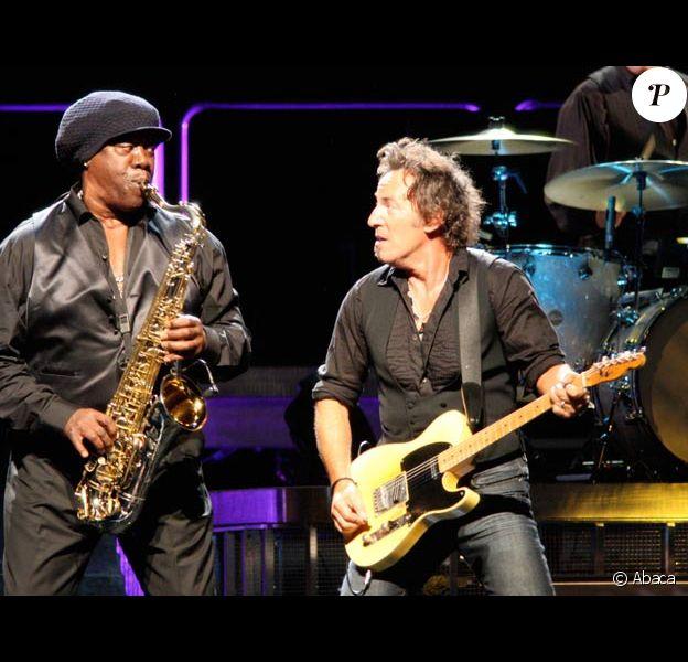 Clarence Clemons en concert avec Bruce Springsteen en octobre 2007 à Hartford, USA
