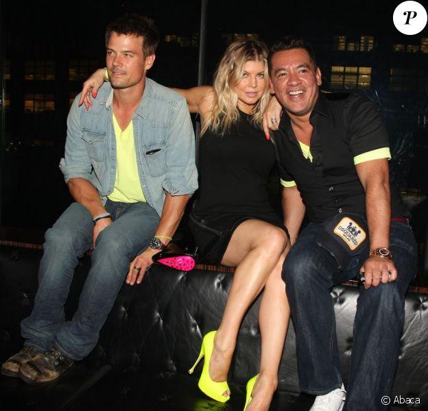 Josh Duhamel, Fergie et Sean Patterson lors de l'anniversaire du président de l'agence de mannequins Wilhelmina Sean Patterson à la Preview Party pour PH-D Rooftop Lounge à l'hôtel Dream Downtown de New York, le 12 juin 2011