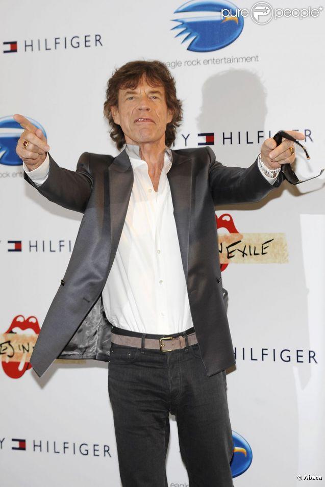 Mick Jagger le 19 mai 2011 à Cannes, rock n'roll attitude !