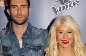 Christina Aguilera et Adam Levine en live avec Moves Like Jagger