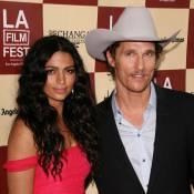 Le cowboy Matthew McConaughey sort sa sublime Camila Alves