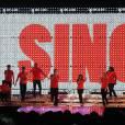 Les acteurs et chanteurs de la série Glee en tournée. Ici, lors de leur tounée à L.A fin mai 2011