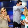 Heidi Klum a fait le show avec son coiffeur sur le plateau de Good Day LA début juin 2011
