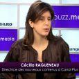 Cécilia Ragueneau, invitée du  Buzz Média  du  Figaro , en janvier 2011.